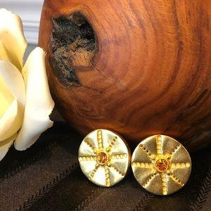 🆕 C. Stein Vintage Gold Clip On Earrings